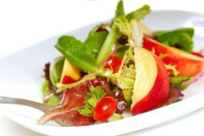 Fresh Peach Salad with a Citrus Vinaigrette