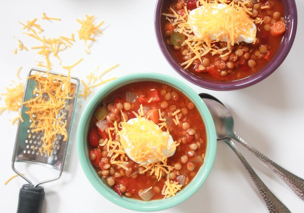 Slow Cooker Lentil Chili ~ Annie's Cooking Lab